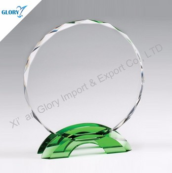 Wholesale custom K9 shield trophies crystal plate awards from China