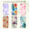 Protective Phone Cover for samsung galaxy s7 case, flower uv print case cover for samsung galaxy c5 s6 J7 J5 A8 A5