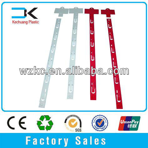 Supermarket Plastic display injection molded hanging clip strip