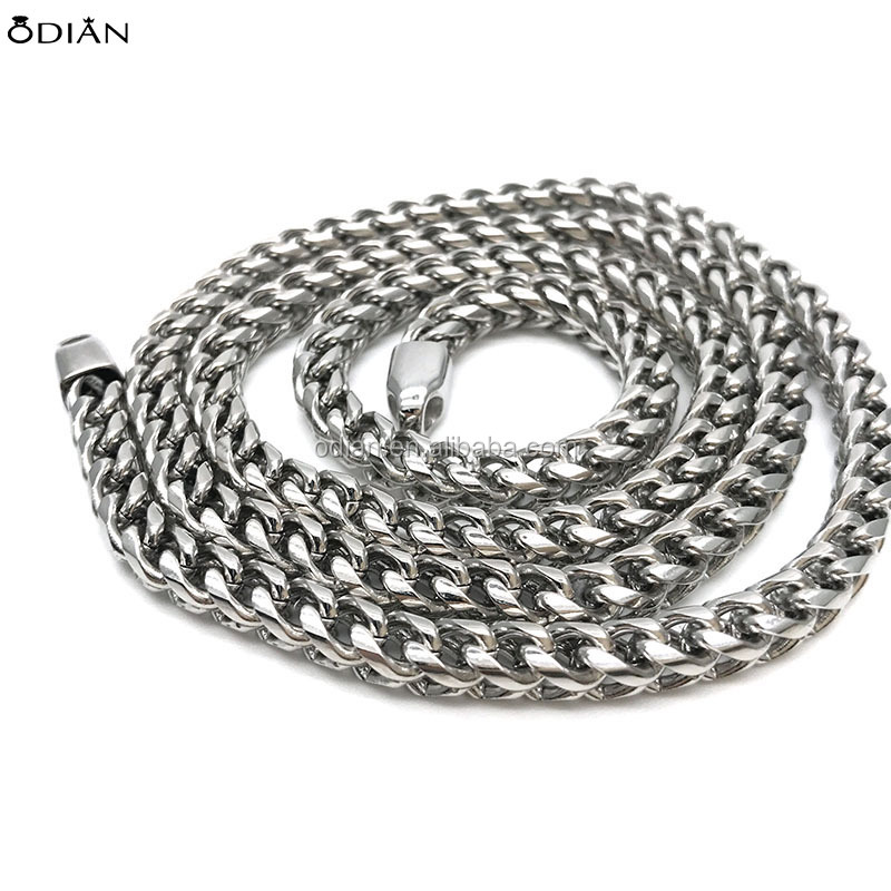 STEEL 3-6mm Curb Chain Necklace for Men Stainless Steel Biker Punk Style Chain, 20-36 inches