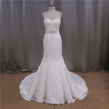 Faironly real sample sexy opulent brush train criss cross high neck low back wedding dresses
