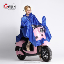 2016 the new PVC plastic fashion bicycle motorcycle raincoat sell like hot cakes