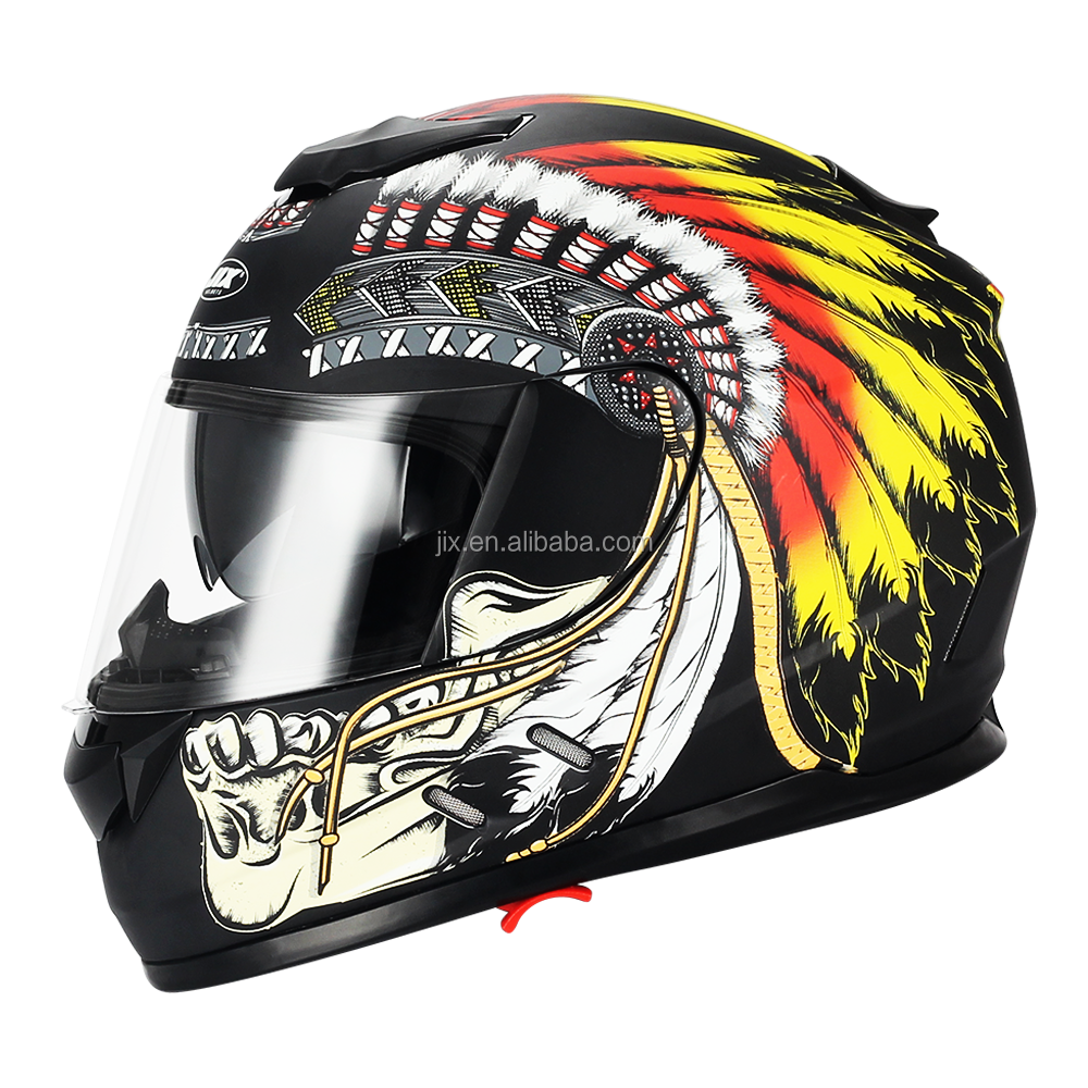 new popular motorcycle dual visor full face racing helmets Indian style AH16