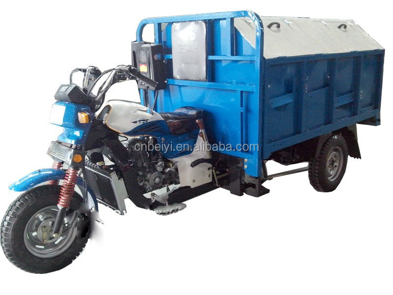south America tipping garbage dump tricycle 3 wheel motorcycle motorised water cooled type cargo tricycle for sale In Ethiopia