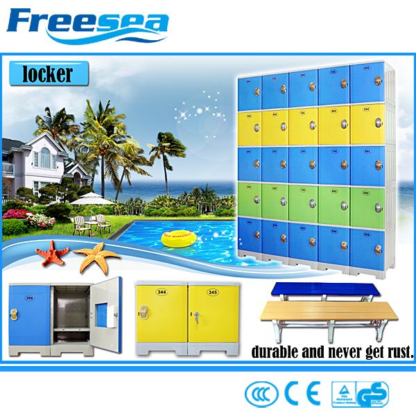Freesea Standard beach locker cabinet swimming pool lock locker