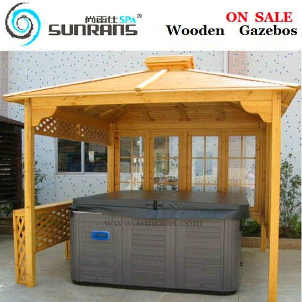 Hot sale wooden gazebo SR893, cheap wooden gazebos for sale