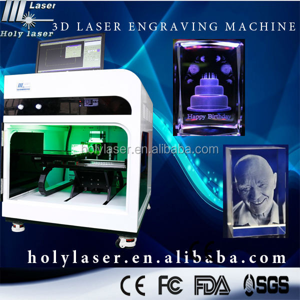 glass 3d laser engraving machine for 3d portrait crystal(professional manufacturer)