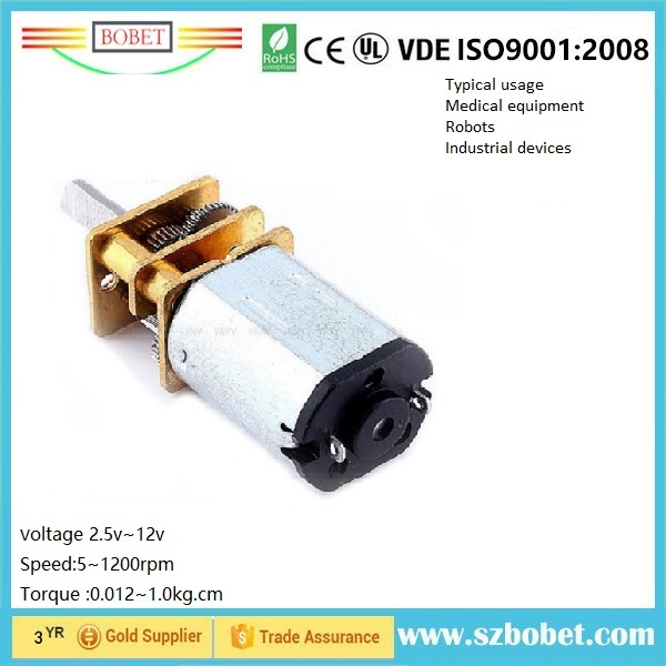 12mm 6v geared dc motor for Instrument Panel