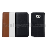 Oil Multiple Card Slots PC+PU Wallet Leather Covers Case for Samsung Galaxy Note 5