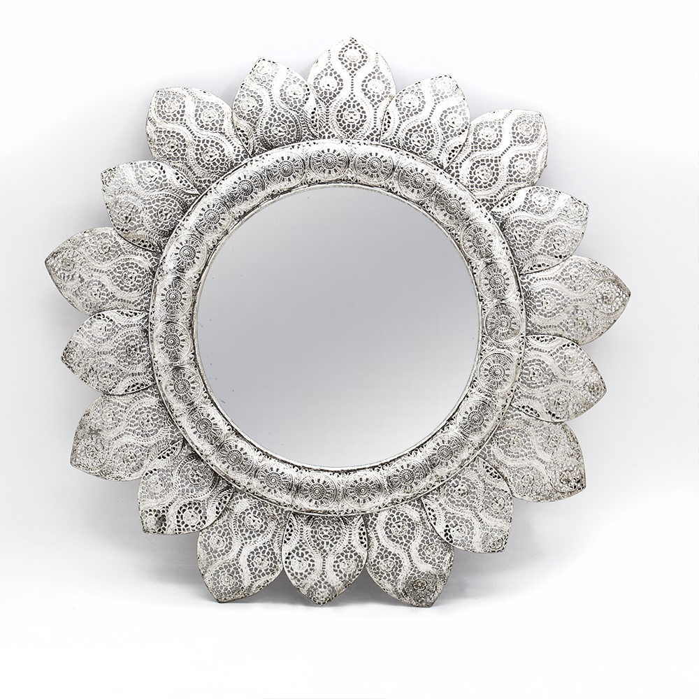 2016 New Design Ornate Antique Silver Frame Mirror