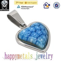 puzzle frozen jewelry crystal heart pendant