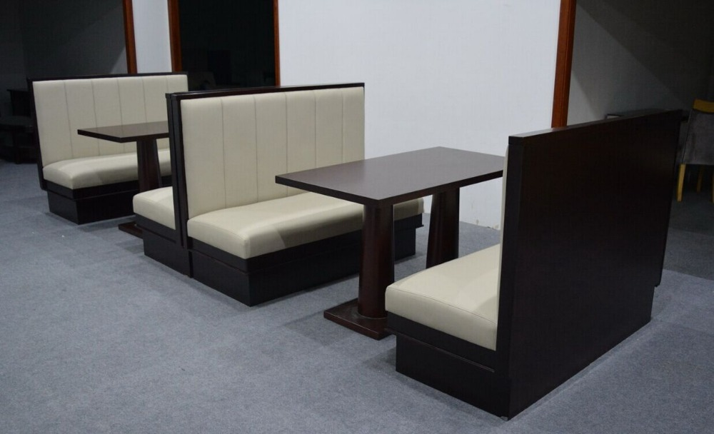 fast food booth modern furniture restaurant dining wooded booth
