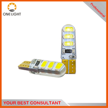 HOT high brightness led bulbs T10 6PCS smd 5630 rgb led chip with flash silicon t10 led lamps for wideth