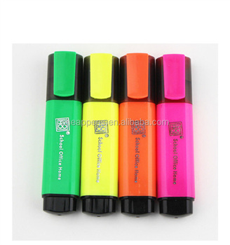 wenzhou factory oem design logo printed highlighter marker pen