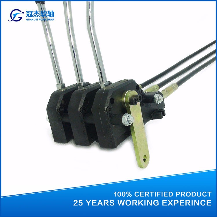 Hydraulic Valve Control Cables : Gj a hydraulic multiple valve push pull cable control