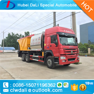 30Ton 6*4 8000L Asphalt Bitumen Tank, 12000L Gravel Tank, Good Synchronous Seal Car