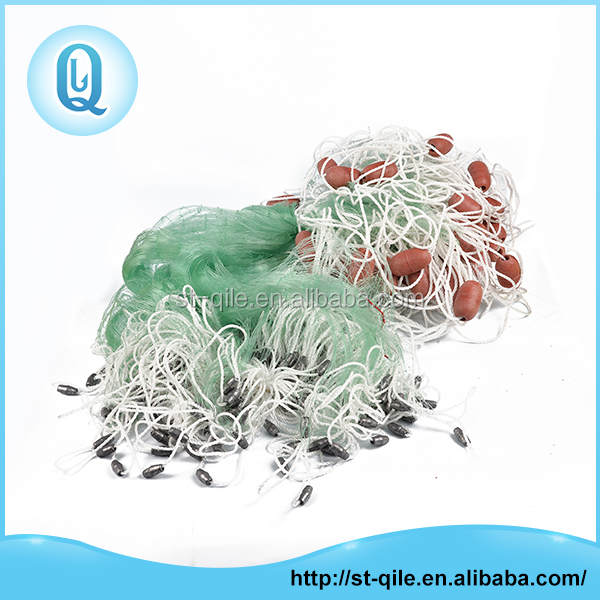 Hot sale cheap professional knotted nylon gill fishing net