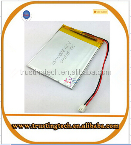 3.7V lithium polymer battery 308090 2500MAH mobile power Tablet PC MID