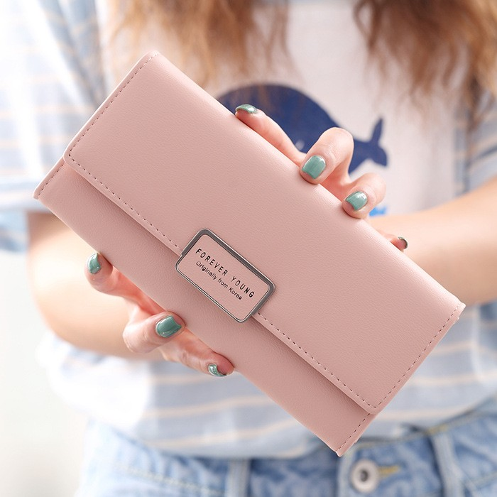 New Fashion China Manufacturer Wholesale Small MOQ Long Style Metal Wallet Women Purse Wallet