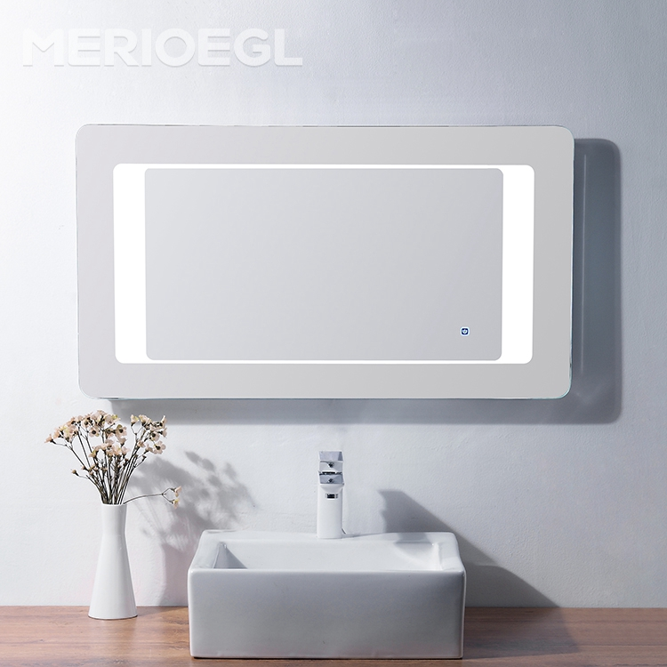 Factory price bathroom rectangle mirror Illuminated backlit led salon mirror