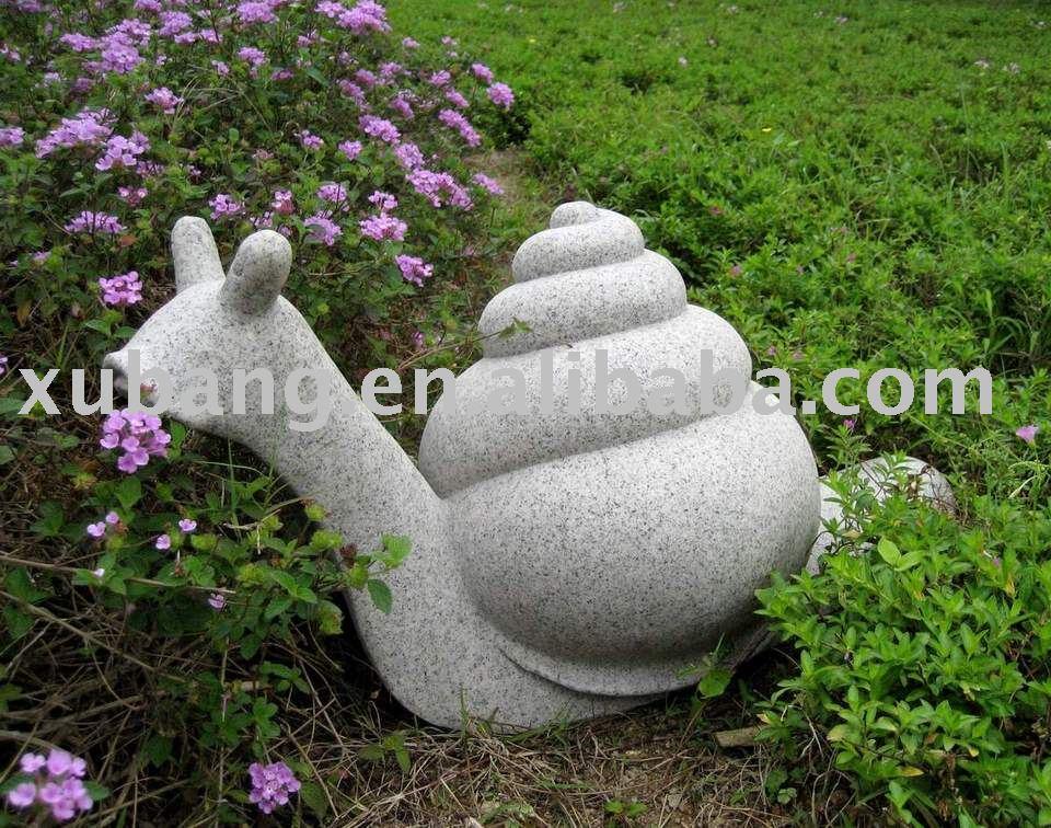 Garten steinskulptur sandstein schnecke gartendekoration for Steinskulptur garten