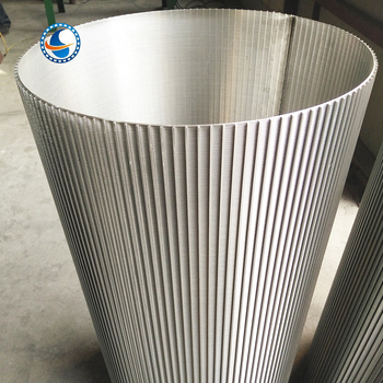 Reverse Rolled Slotted Screens Wedge Wire Screen Tube