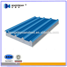 Waterproof thermal insulation materials corrugated sandwich panel from shandong hongxinyuan factory