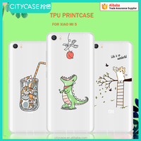 city&case cartoon print waterproof cell phone case for XIAO MI5