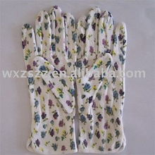 pvc dotted printed flower 100% cotton working glove With Great Low Price