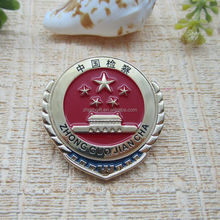 Zinc alloy custom metal security medal badges with custom design