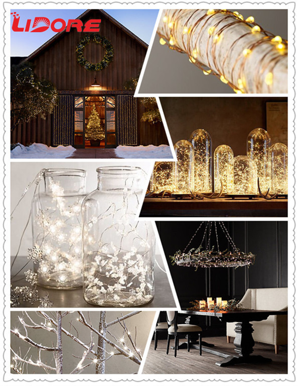 LIDORE Battery operated mini led string lights for craft, View outdoor Christmas lights, LIDORE ...