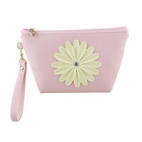 New Brand Fashion Little Daisy Flowers Stlye Coin Purses PU Leather Wallets Lady Coin Purses Clutch Wallets Money Bags