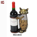 Metal Decorative Cat Wine Bottle And Cork Holder