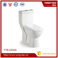 chaozhou yingtao ceramic toilet two piece back to wall p trap wc
