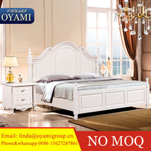 Bed in foshan wooden bed frame king size bed room classic