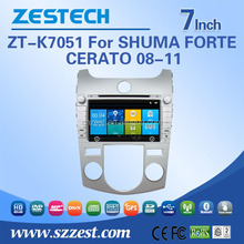 best sale car dvd gps navigation system car audio system for Kia SHUMA/FORTE/CERATO 08-11 car gps radio BT
