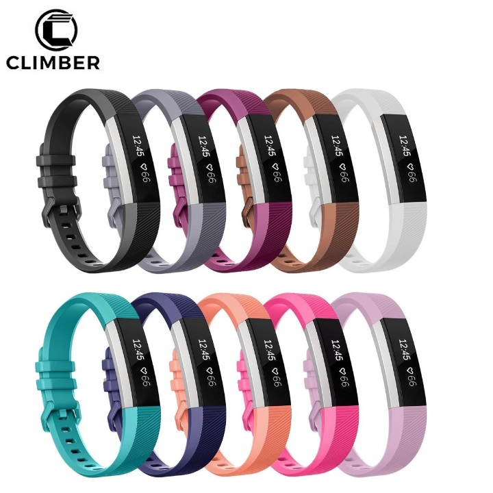 with Metal Buckle Clasp Soft Silicone TPU Replacement Wristband for Fitbit Alta HR Band Strap