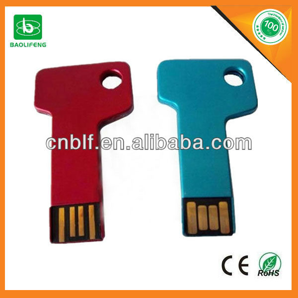 Factory supply OEM logo colorful real full capacity working stable metal usb key drives