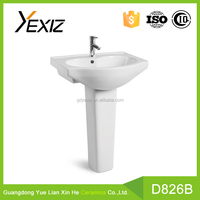 D826B toilet wc accessory ceramic hand wash basin pedestal