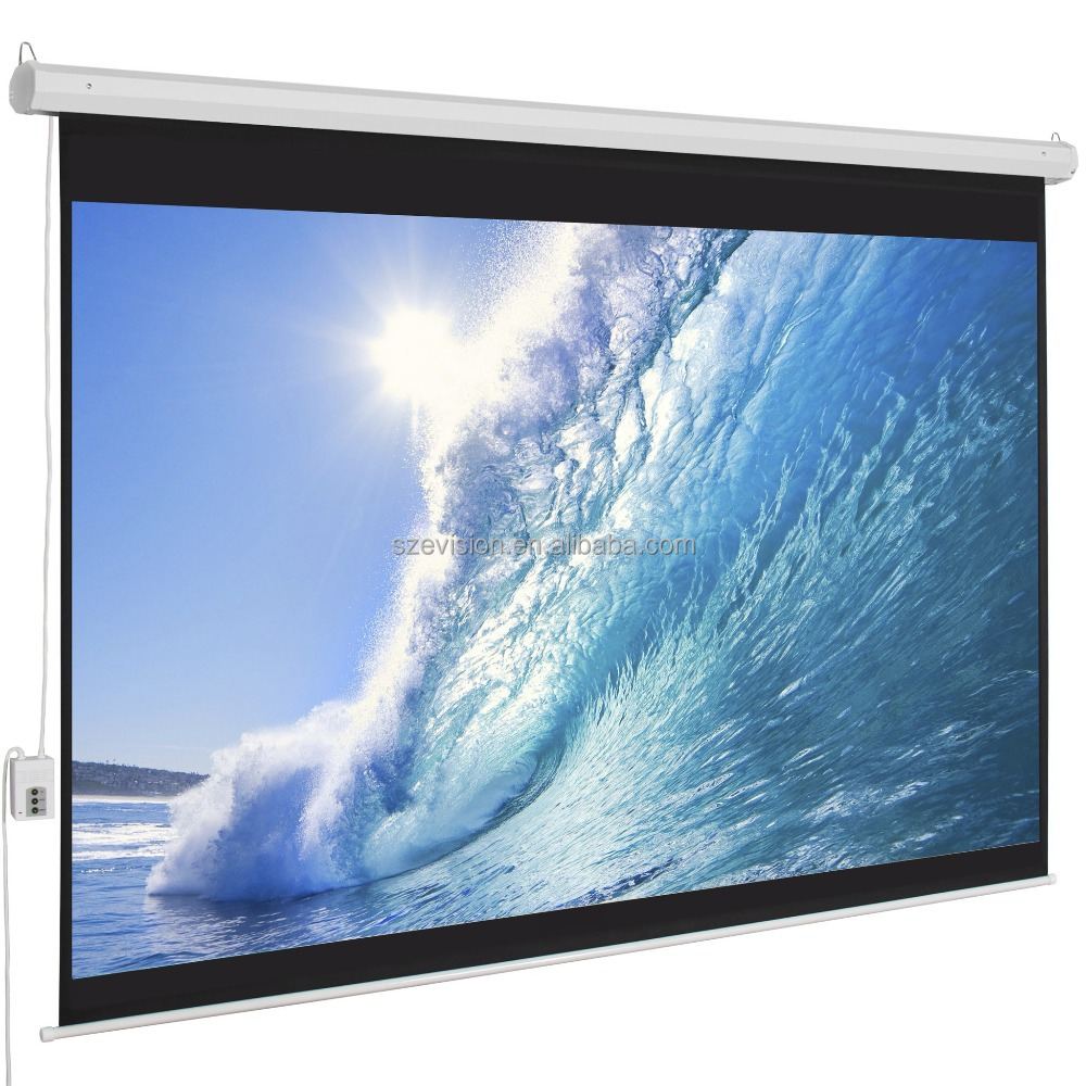 "120"" Electric projection screen(Matte White)16:9format/Motorized Tubular Motor Screen/Wall Mount Full HD ProjectionScreen"