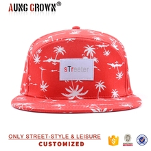 Custom digital print beautiful floral snapback cap