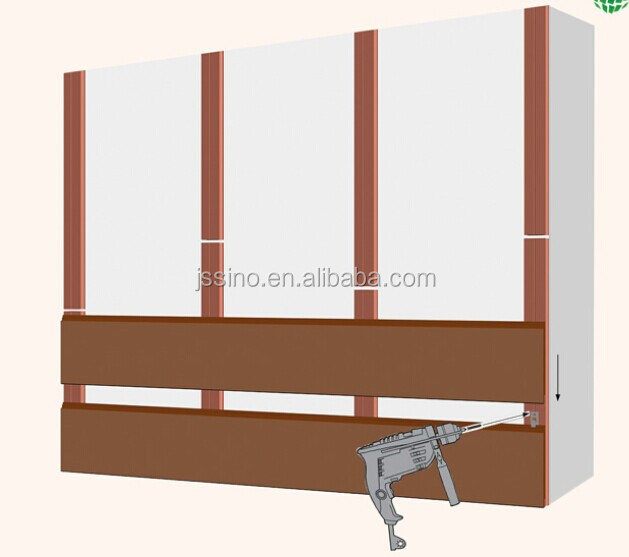 Wood Plastic Composite Wall Panel : Wpc plastic wood effect panels for walls