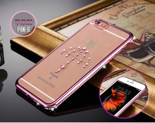 China manufacture high quality Luxury Crystal bling phone case for iphone5 se