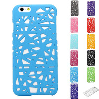 New Arrival Bird Nest 3D Hollow out Flowers Hard Plastic Case Cover For iPhone 6 6S 4.7inch