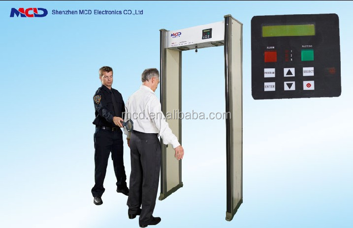 High Well performance Professional door frame metal detector MCD-500C infrared body temperature detector