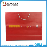 Hot selling glossy lamination recycled custom logo printed shopping bag gift paper bag with different handle types