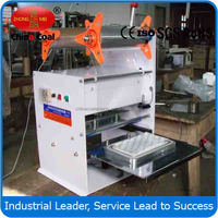 Food Application and Sealing Machine Tray Sealer Type Table Top Tray Sealer