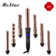 2018 HOT selling 5 in 1 nano titanium salon professional hair styling tools curling wand