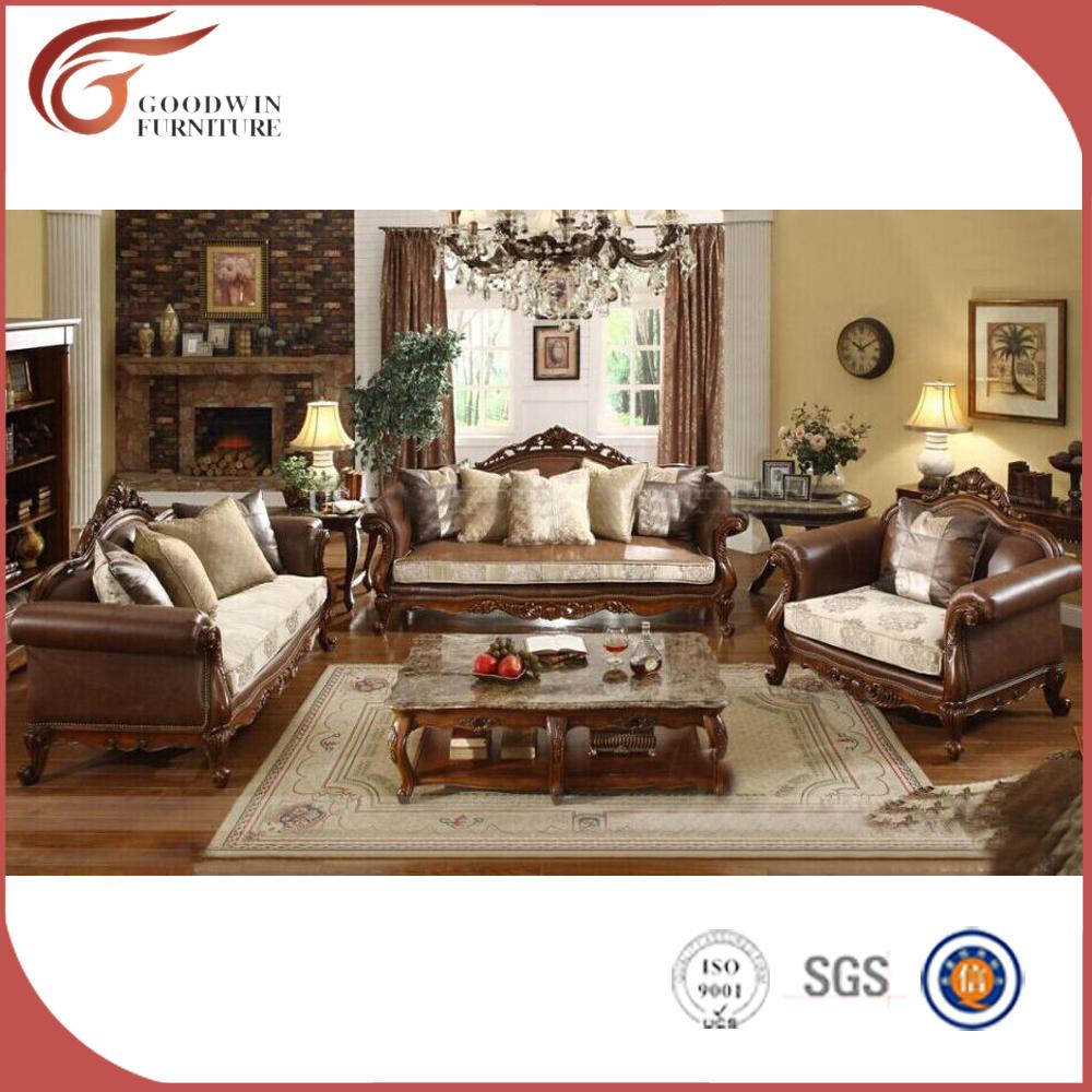 Roble cl sico sal n muebles de madera dubai nuevo modelo - Muebles de salon antiguos ...