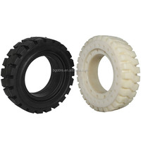 Custom forklift parts wheel rims solid pneumatic rubber wheel 300-15